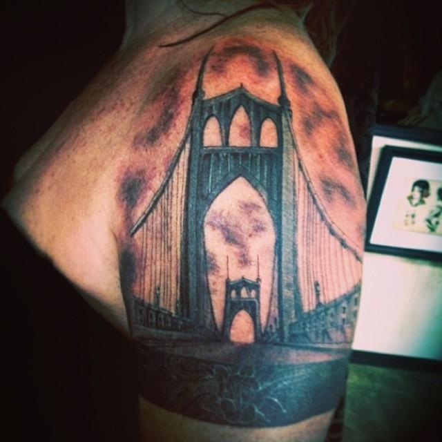 St. John's Bridge by Joe Larralde