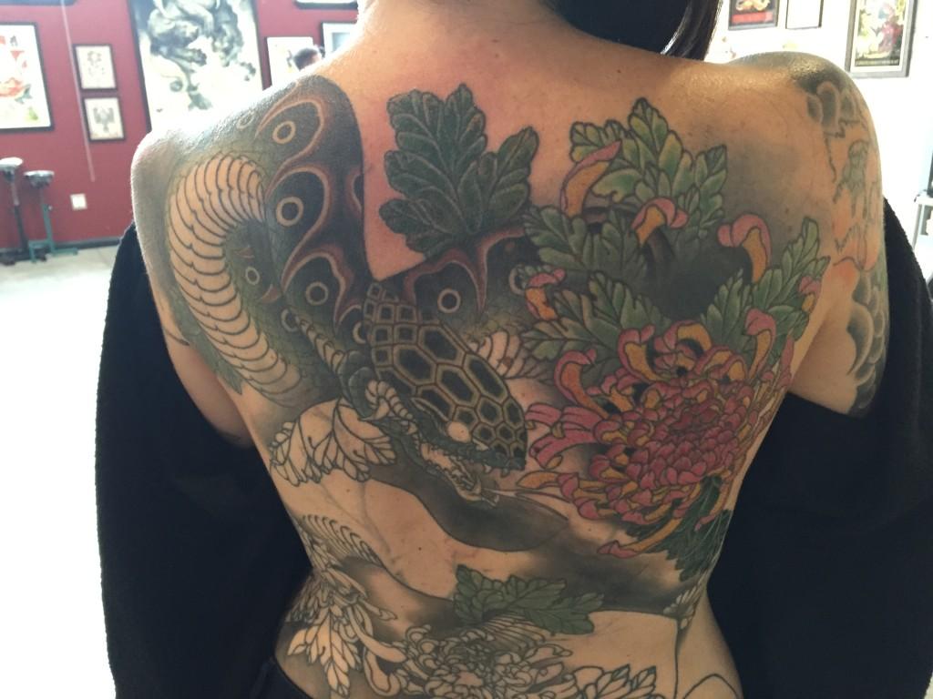 Back piece in progress by Jason Kundell
