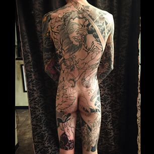In progrss back piece by Josiah Laughlin