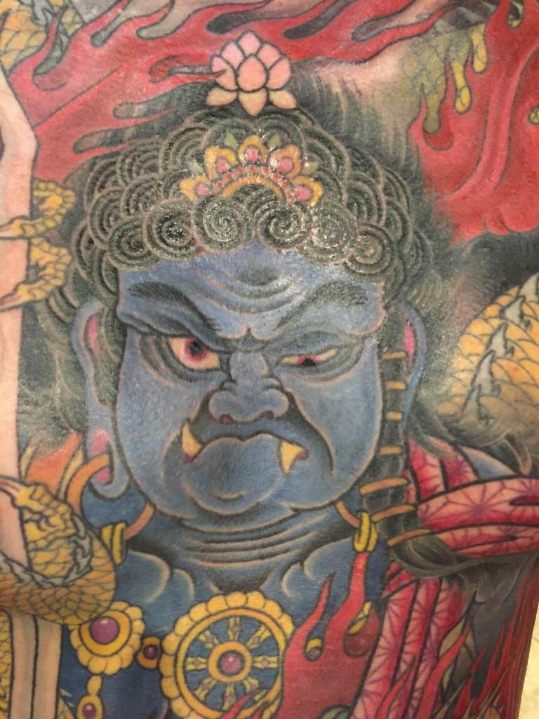 Fudo detail of a front piece done by Jason Kundell